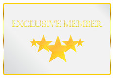 Exclusive Member Card Royalty Free Stock Photos