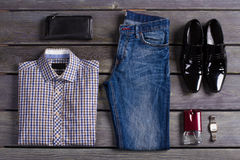 Exclusive men's clothing. Beautifully laid out an exclusive men's clothing Stock Photo