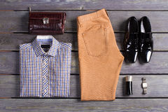 Exclusive menswear. Men's clothing store Royalty Free Stock Images