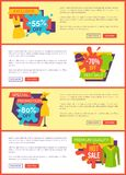Exclusive 55 Off, Best Sale 70 Special Promotion. Exclusive 55 off, best sale 70 , special promotion premium quality hot sale set of web posters with summer mode stock illustration