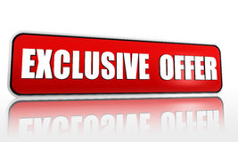 Exclusive offer red banner Royalty Free Stock Images