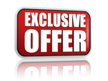 Exclusive offer red banner Stock Photo