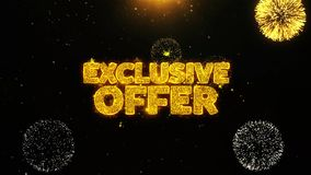 Exclusive Offer Wishes Greetings card, Invitation, Celebration Firework Looped