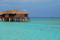 Exclusive luxury Overwater Bungalow for your next  Stock Photo