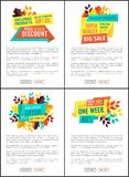 Exclusive Product Discount Set Vector Illustration vector illustration