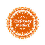Exclusive product. Vector illustration Royalty Free Stock Images