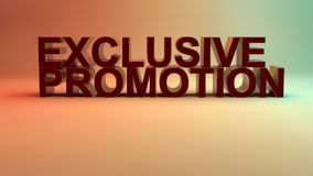Exclusive promotion Royalty Free Stock Photo