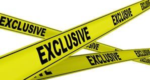 exclusive Przylepiać etykietkę żółte ostrzegawcze taśmy royalty ilustracja