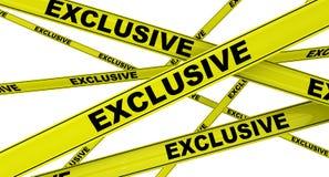 exclusive Przylepiać etykietkę żółte ostrzegawcze taśmy ilustracja wektor
