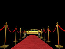 Exclusive red carpet Royalty Free Stock Photos