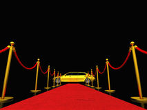 Exclusive red carpet Stock Photo