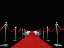 Exclusive red carpet Stock Images