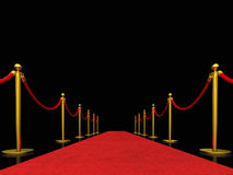 Exclusive red carpet Stock Image