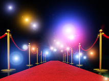 Exclusive red carpet Royalty Free Stock Images