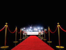 Exclusive red carpet Royalty Free Stock Image