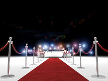 Exclusive red carpet Royalty Free Stock Photo