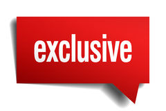 Exclusive red paper speech bubble Royalty Free Stock Photo