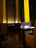 Exclusive restaurant design. With mood lighting Stock Images