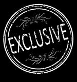 Exclusive rubber stamp on a black background. Royalty Free Stock Image