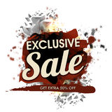 Exclusive Sale Poster, Banner or Flyer design. Exclusive Sale Poster, Sale Banner, Flyer design, Extra 50% Discount Offer, Abstract typographical background Stock Images