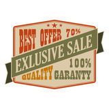 Exclusive sale vintage banner Royalty Free Stock Photos