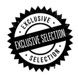 Exclusive selection stamp. Grunge design with dust scratches. Effects can be easily removed for a clean, crisp look. Color is easily changed Royalty Free Stock Images