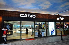 2874793d737a Exclusive shop. A view of casio exclusive shop in the pedestrain street  ,wuhan city