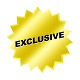 Exclusive Sign. Web button - internet design Royalty Free Stock Photos