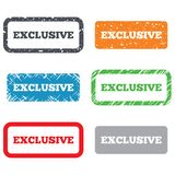 Exclusive sign icon. Limited edition symbol Royalty Free Stock Images