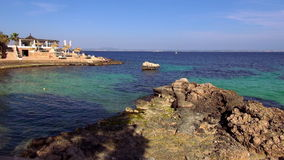 Exclusive spanish beach resort on the Balearic Islands stock video footage