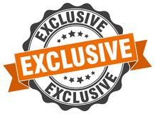 Exclusive stamp royalty free illustration
