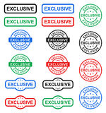 Exclusive stamp Royalty Free Stock Photos