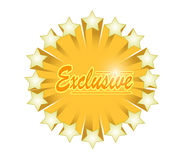 Exclusive star illustration design Royalty Free Stock Images