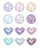 Exclusive stones diamonds. Diamonds Vector colorful bright Royalty Free Stock Photos