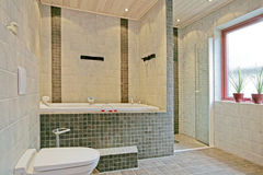 Exclusive Swedish bathroom interior Stock Images