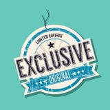 Exclusive tag. Exclusive limited edition tag, vector Stock Photos