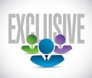 Exclusive team sign illustration design graphic Stock Photos