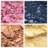 Exclusive textures of cosmetic products Stock Images