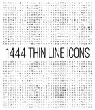 Exclusive 1444 thin line icons set. Big package of modern minimalistic pictograms for mobile UI/UX kit, infographics and web sites. High quality logistics Stock Photos