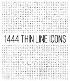 Exclusive 1444 thin line icons set. Big package of modern minimalistic pictograms for mobile UI/UX kit, infographics and web sites. High quality logistics stock photography