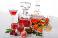 Exclusive traditional liqueurs Stock Photos