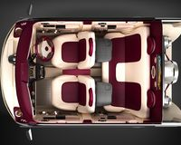 Exclusive tuning project car demo with the installation of an acoustic music system. Interior design with the layout of. The main elements of the machine. 3D Stock Photos