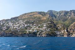 Exclusive villas and apartments on the rocky coast of Amalfi. Campania. Italy royalty free stock images