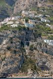 Exclusive villas and apartments on the rocky coast of Amalfi. Campania. Italy stock image