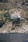 Exclusive villas and apartments on the rocky coast of Amalfi. Campania. Italy royalty free stock photo