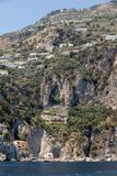 Exclusive villas and apartments on the rocky coast of Amalfi. Campania. Italy stock photo