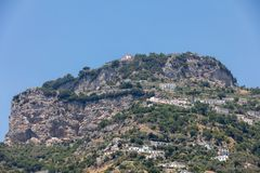 Exclusive villas and hotels on the rocky coast of Amalfi. Campania. Italy stock photography