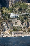Exclusive villas and hotels on the rocky coast of Amalfi. Campania. Italy stock photo