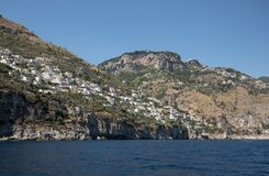 Exclusive villas and hotels on the rocky coast of Amalfi. Campania. Italy royalty free stock image