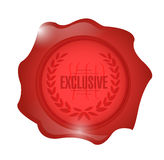 Exclusive wax seal illustration design Stock Image